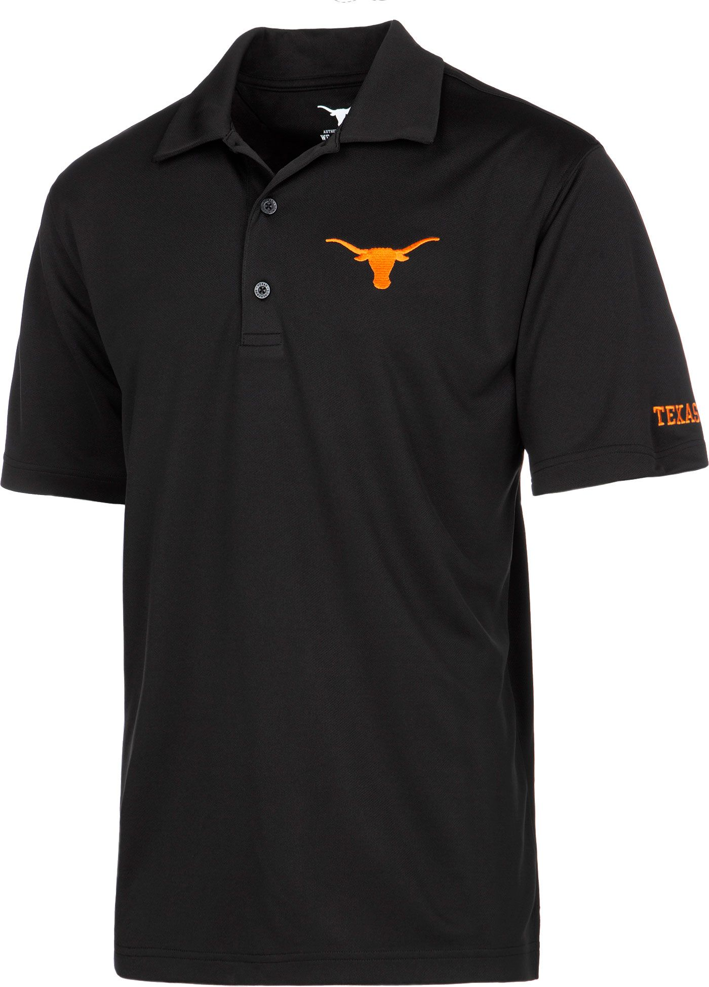 University of Texas Authentic Apparel Men's Texas Longhorns Ambition Black Polo