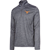 University of Texas Authentic Apparel Men's Texas Longhorns Grey Whitley Quarter-Zip Shirt