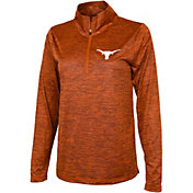 University of Texas Authentic Apparel Women's Texas Longhorns Burnt Orange Quarter-Zip Shirt