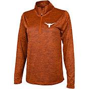 University of Texas Authentic Apparel Women's Texas Longhorns Burnt Orange Quarter-Zip Pullover Shirt