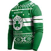 FOCO Men's Boston Celtics Logo Royal Ugly Sweater