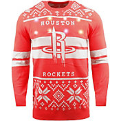 FOCO Men's Houston Rockets Logo Royal Ugly Sweater