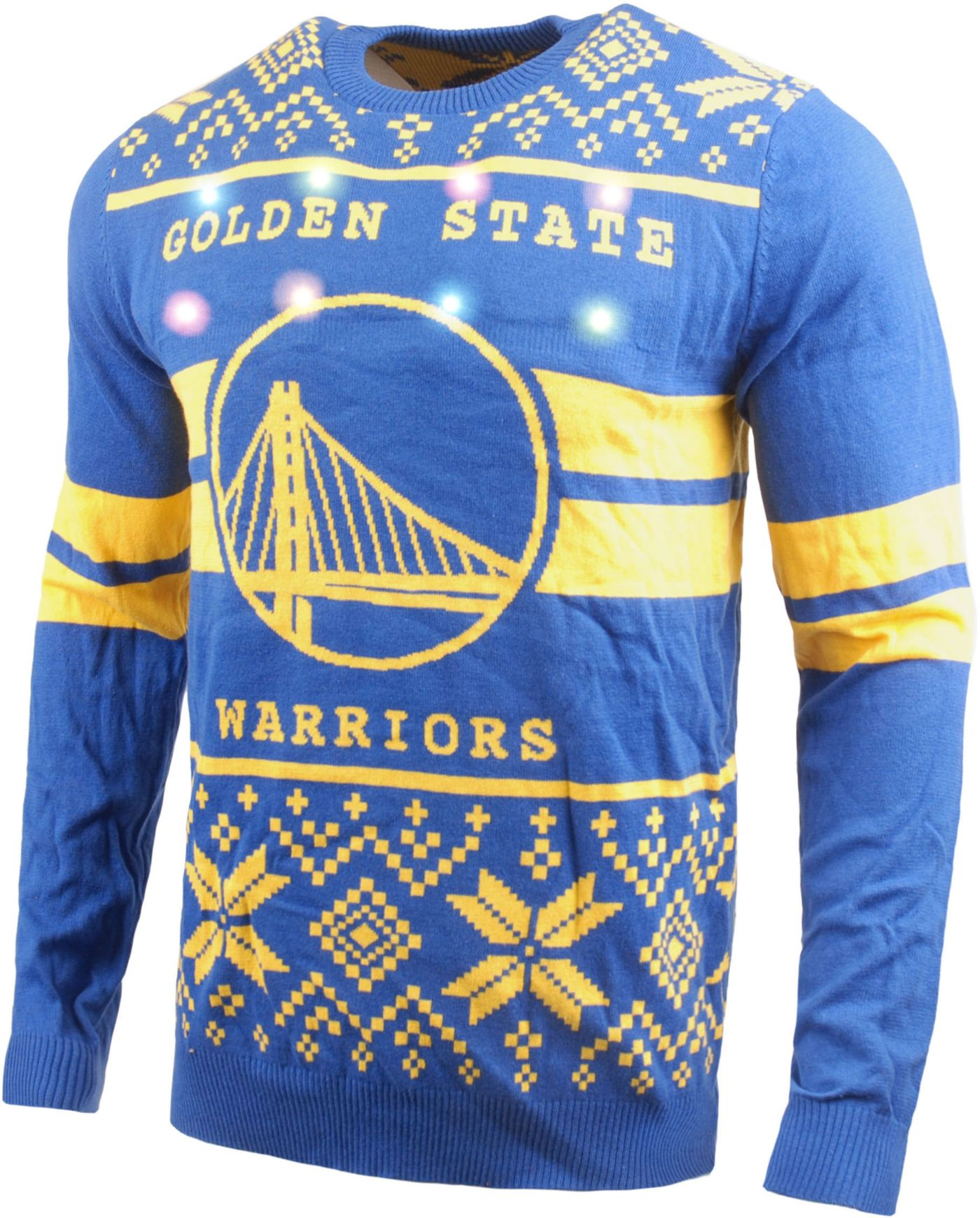 FOCO Men's Golden State Warriors Logo Royal Ugly Sweater