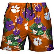 FOCO Men's Clemson Tigers Orange Floral Shorts