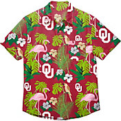 FOCO Men's Oklahoma Sooners Crimson Floral Button-Up Shirt
