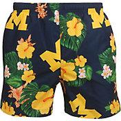 FOCO Men's Michigan Wolverines Blue Floral Shorts