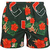 FOCO Men's Miami Hurricanes Green Floral Shorts