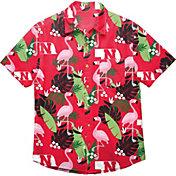 FOCO Men's Nebraska Cornhuskers Scarlet Floral Button-Up Shirt
