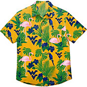 FOCO Men's West Virginia Mountaineers Gold Floral Button-Up Shirt