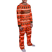 FOCO Men's Cleveland Browns Wordmark Crew Pajama Set