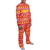 FOCO Men's Kansas City Chiefs Wordmark Crew Pajama Set