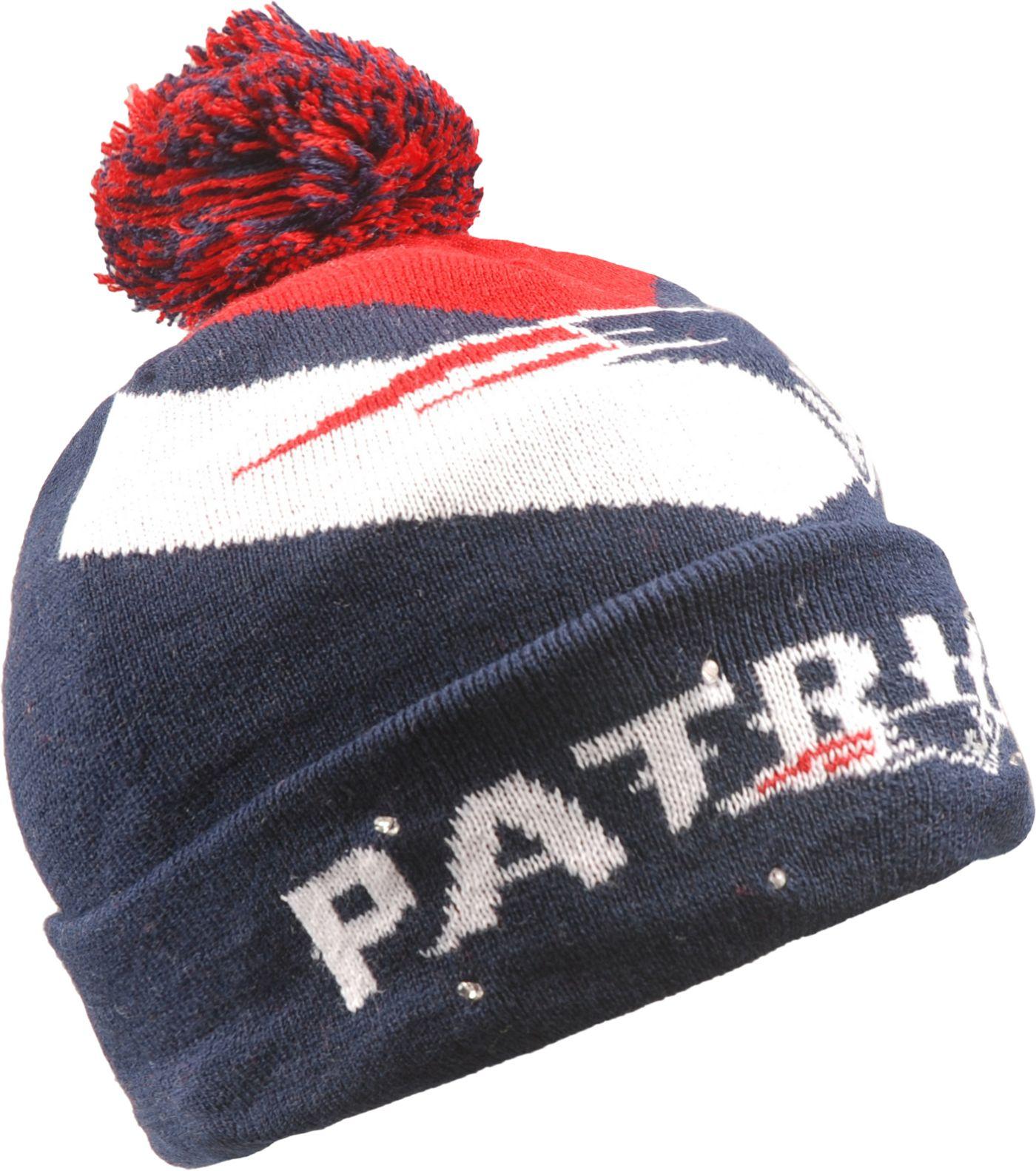 FOCO Men's New England Patriots Light Up Navy Knit