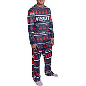 FOCO Men's New England Patriots Wordmark Crew Pajama Set