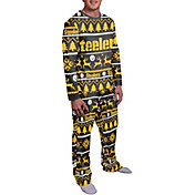 FOCO Men's Pittsburgh Steelers Wordmark Crew Pajama Set