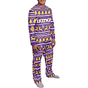 FOCO Men's Minnesota Vikings Wordmark Crew Pajama Set