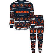 FOCO Toddler's Chicago Bears Wordmark Crew Pajama Set