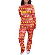 FOCO Women's Kansas City Chiefs Wordmark Crew Pajama Set