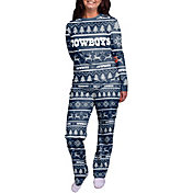 FOCO Women's Dallas Cowboys Wordmark Crew Pajama Set