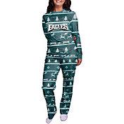 FOCO Women's Philadelphia Eagles Wordmark Crew Pajama Set