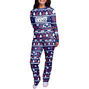 FOCO Women's New York Giants Wordmark Crew Pajama Set
