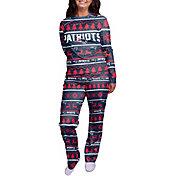 FOCO Women's New England Patriots Wordmark Crew Pajama Set