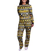 FOCO Women's Pittsburgh Steelers Wordmark Crew Pajama Set