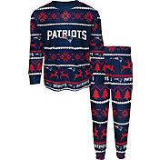 FOCO Youth New England Patriots Wordmark Crew Pajama Set