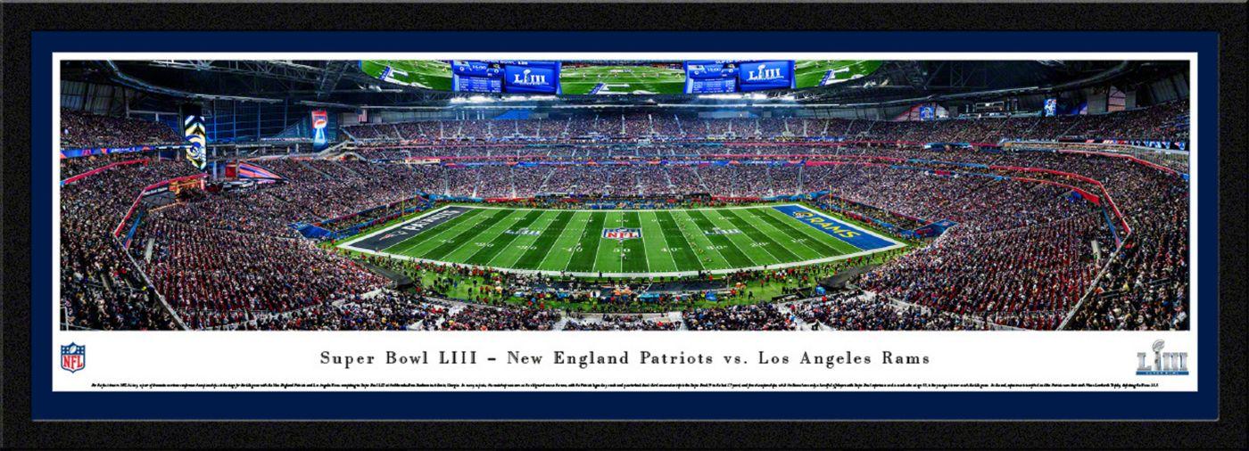 Blakeway Panoramas Super Bowl LIII Champions New England Patriots Kick Off Framed Panorama Poster