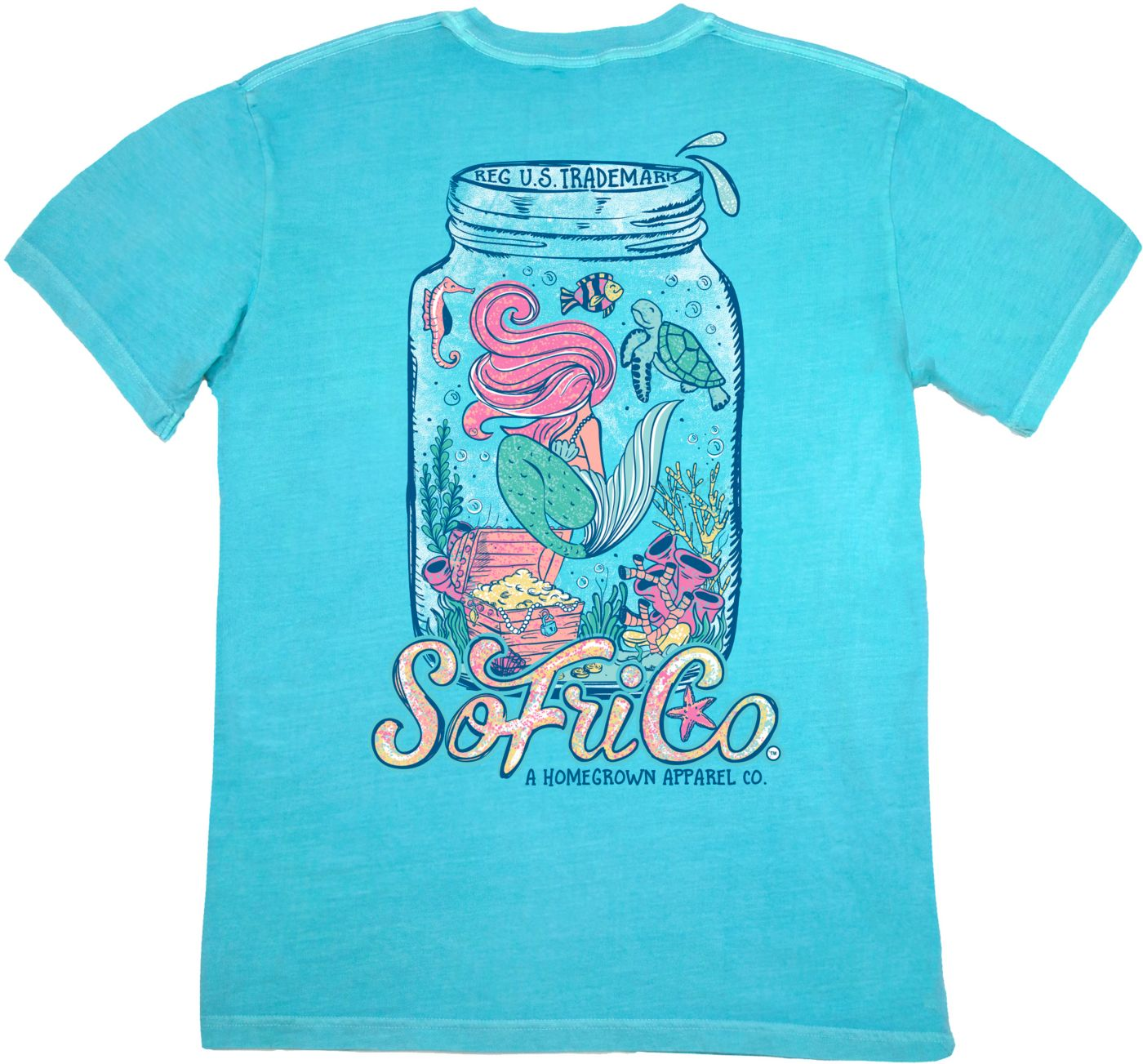 Southern Fried Cotton Women's Mermaid For The Sea T-Shirt