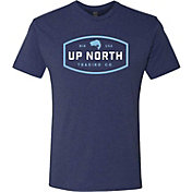 Up North Trading Company Men's Blue Bass T-Shirt (Regular and Big & Tall)