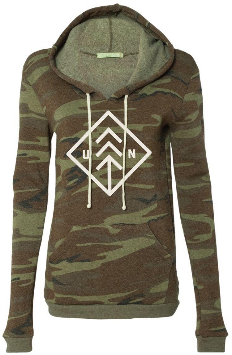 Up North Trading Company Women's Camo Hoodie, Size: Small, Green thumbnail