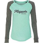 Up North Trading Company Women's Raglan Long Sleeve T-Shirt