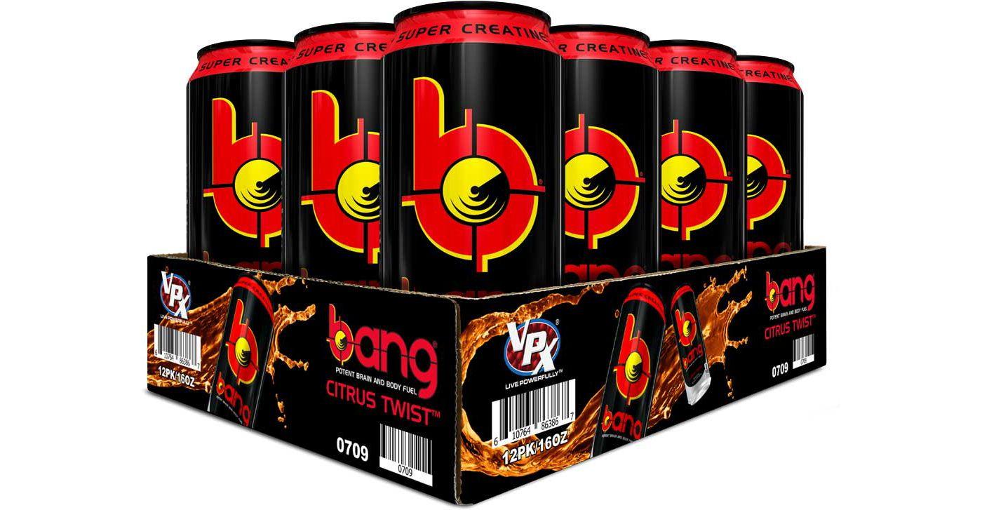 Bang Super Creatine Energy Drink Citrus Twist 12 Pack Case