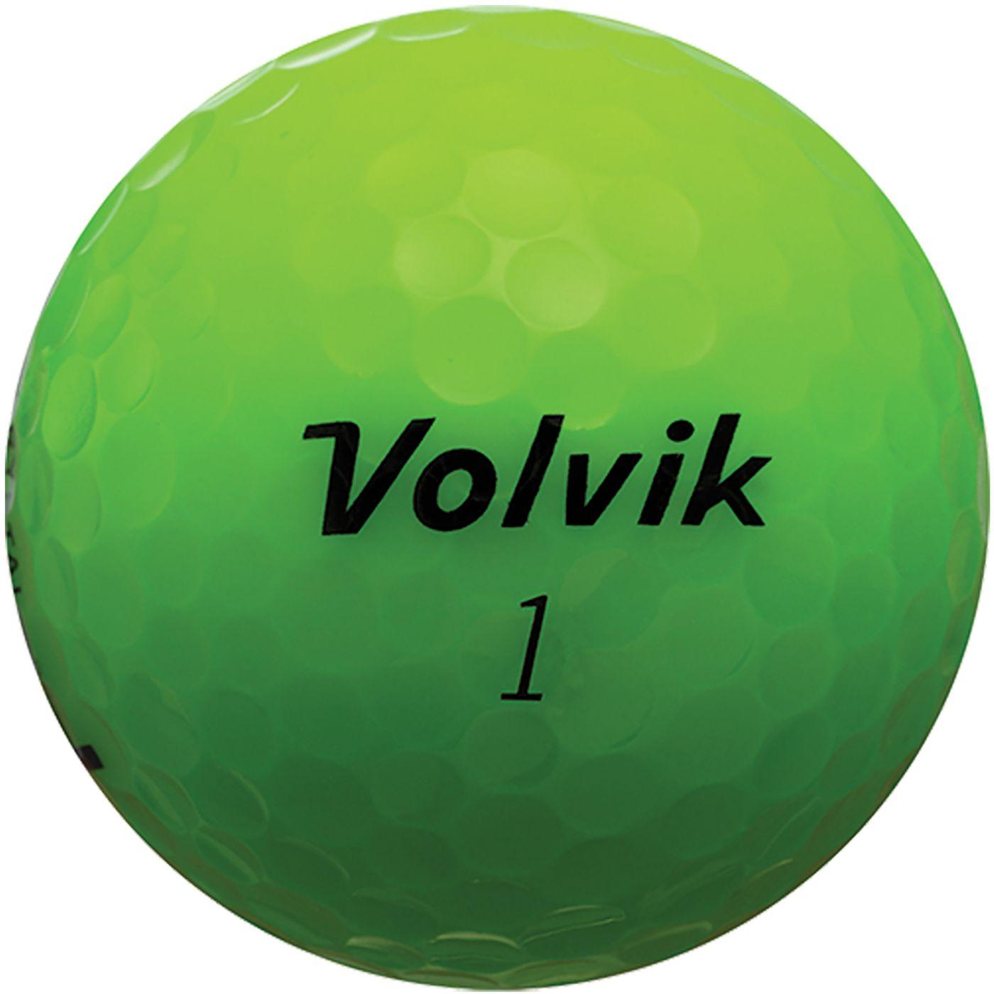 Volvik 2018 Crystal Green Golf Balls