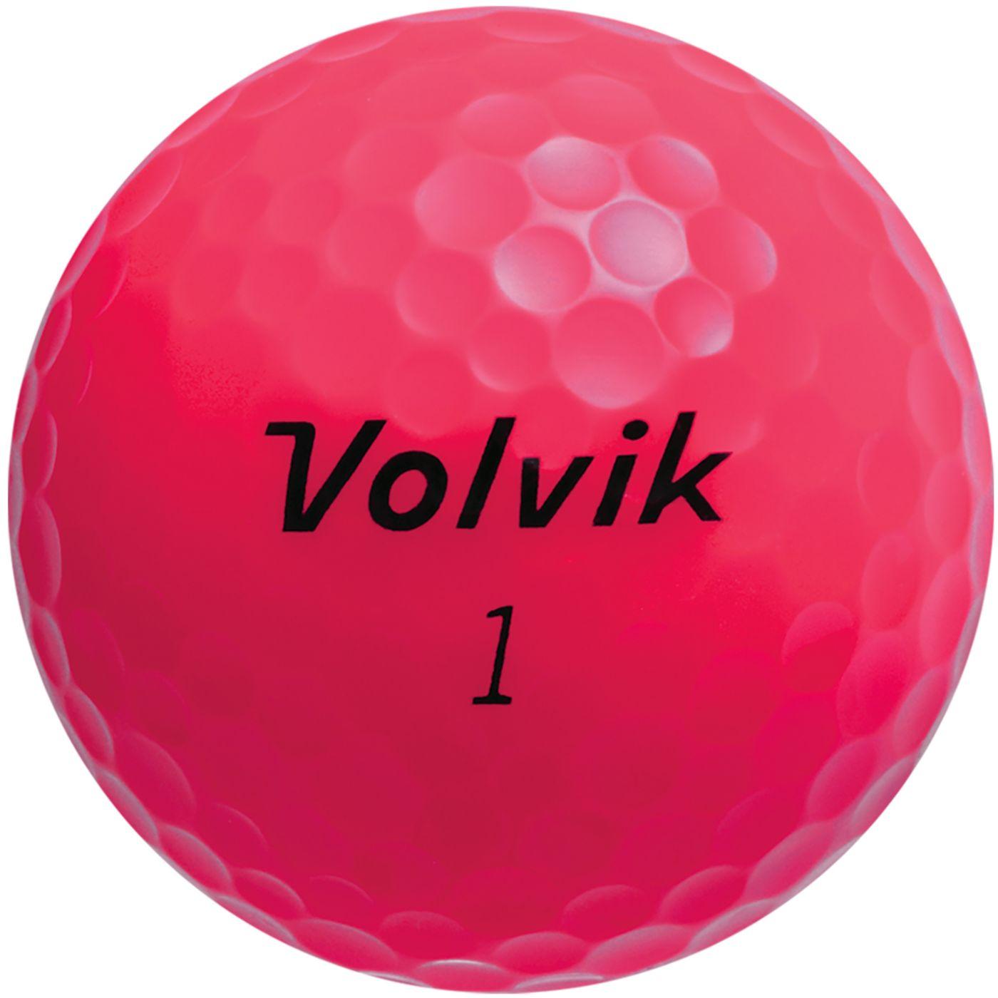 Volvik 2018 Crystal Pink Golf Balls