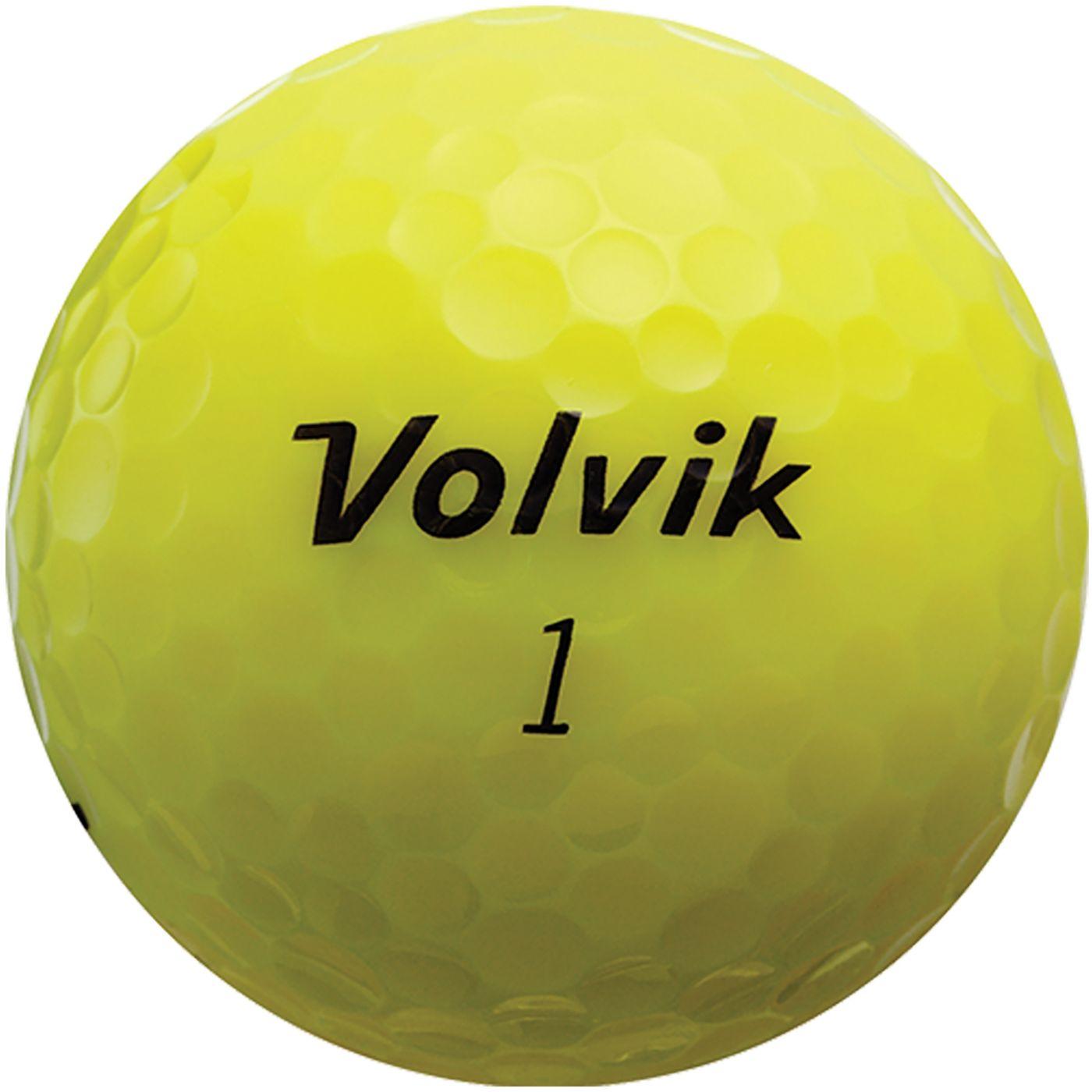 Volvik 2018 Crystal Yellow Golf Balls