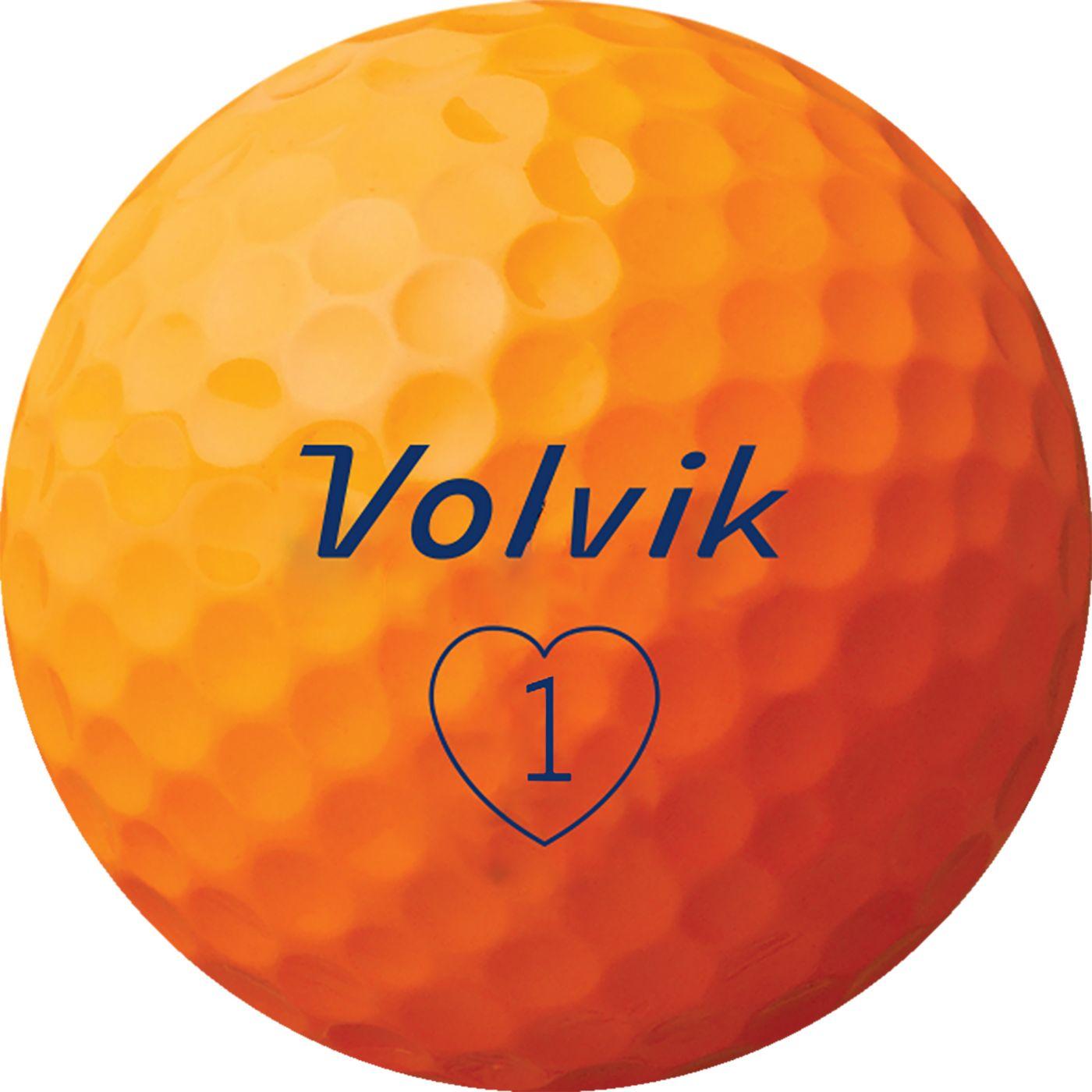 Volvik 2019 S3 Orange Golf Balls