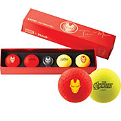 Volvik VIVID Matte Marvel Iron Man Edition Golf Balls + Hat Clip Set – 4 Pack