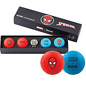 Volvik VIVID Matte Marvel Spider-Man Edition Golf Balls + Hat Clip Set – 4 Pack