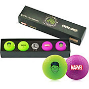 Volvik VIVID Matte Marvel Hulk Edition Golf Balls + Hat Clip Set – 4 Pack