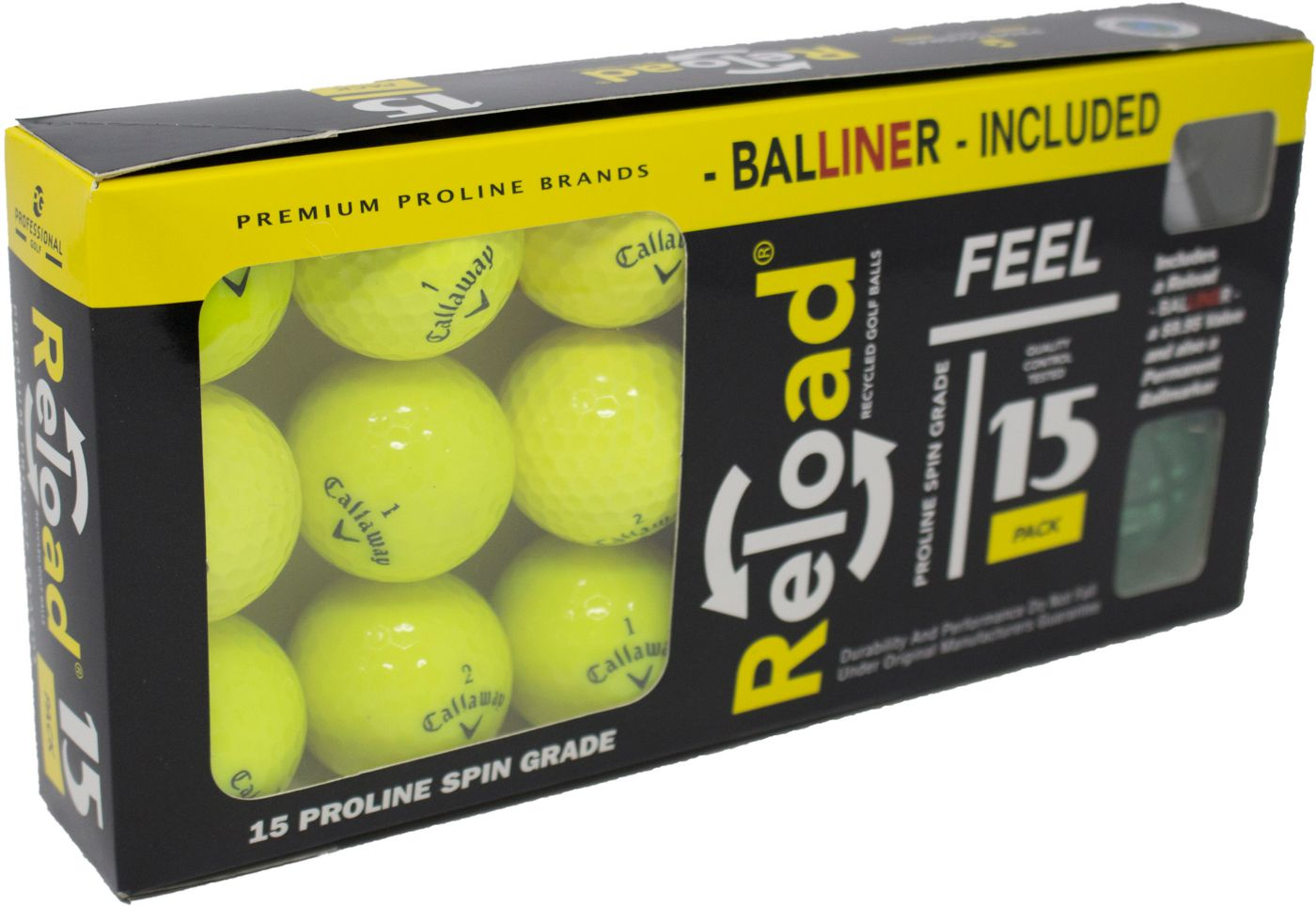 Recycled Callaway Golf Ball Mix – 15 Pack