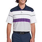 Walter Hagen Men's 11 Majors Stripe Golf Polo- Big & Tall
