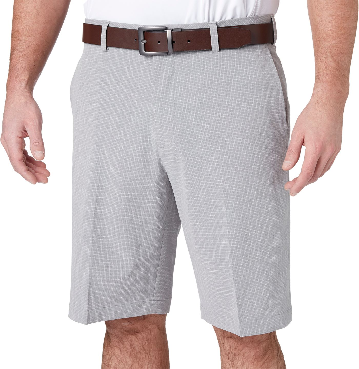 Walter Hagen Men's Perfect 11 Textured Grid Golf Shorts - Big & Tall