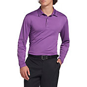 Walter Hagen Men's Long Sleeve Stripe Golf Polo