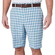 Walter Hagen Men's Perfect 11 Brush Stroke Plaid Golf Shorts