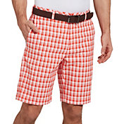 Walter Hagen Men's 11 Majors Brush Stroke Plaid Golf Shorts