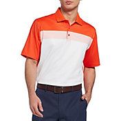 Walter Hagen Men's 11 Majors Chest Stripe Colorblock Golf Polo