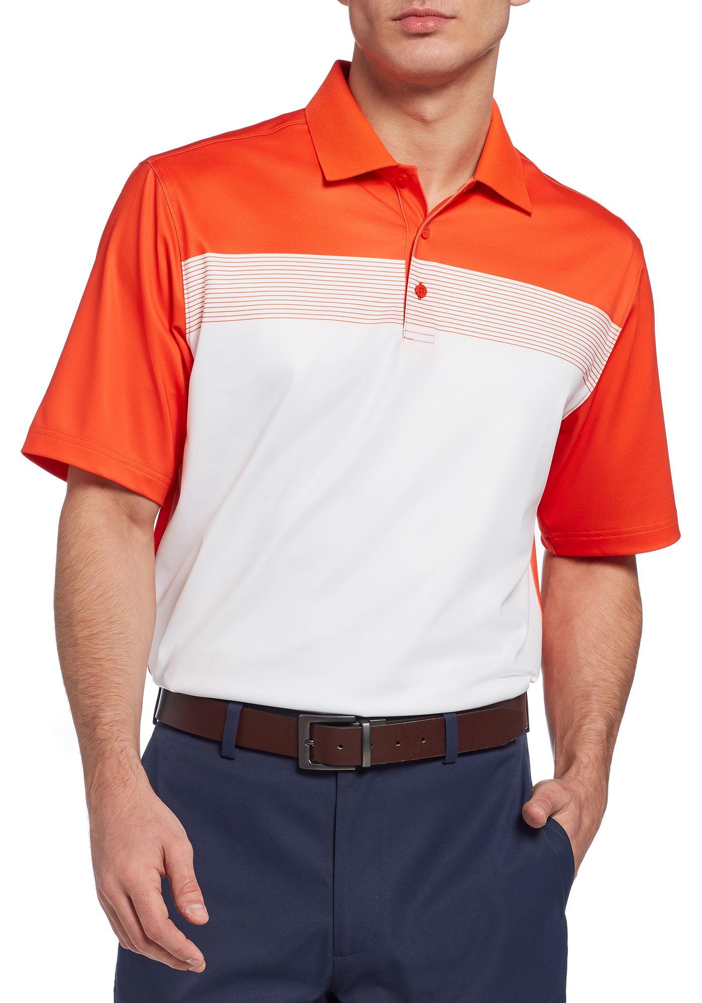 Walter Hagen Men's 11 Majors Chest Stripe Colorblock Golf Polo