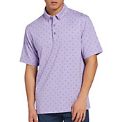 Walter Hagen Men's 11 Majors Diamond Printed Golf Polo