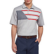 Walter Hagen Men's Perfect 11 Flag Print Golf Polo